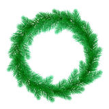 Christmas tree wreath ornament decoration. Christmas wreath of pine, fir, spruce branches. Christmas tree. Vector ornament decoration design element for greeting Royalty Free Stock Images