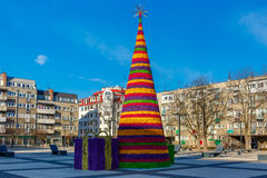 Christmas tree in Wroclaw, Poland Royalty Free Stock Image
