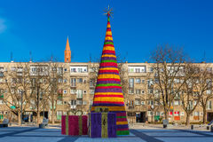 Christmas tree in Wroclaw, Poland Stock Image