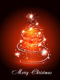 Christmas Tree Wtih Sparkle Stock Images