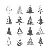 Christmas tree, X mas tree set Stock Image