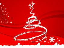 Christmas tree, xmas, festival. Unique xmas tree for festival Royalty Free Stock Images