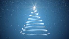 Christmas tree xmas holiday celebration winter snow animation background. Xmas merry christmas tree holiday celebration winter snow animation background with vector illustration