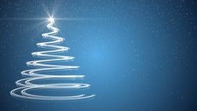 Christmas tree xmas holiday celebration winter snow animation background. Xmas merry christmas tree holiday celebration winter snow animation background with stock illustration