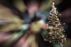 christmas tree from xmas lights Stock Photo