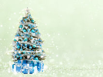 Christmas tree from the xmas lights (play with the light). Stock Photography