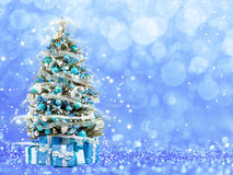Christmas tree from the xmas lights (play with the light). Royalty Free Stock Photography