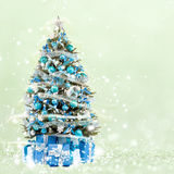 Christmas tree from the xmas lights (play with the light). Royalty Free Stock Photos