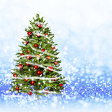 Christmas tree from the xmas lights (play with the light). Royalty Free Stock Image
