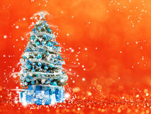 Christmas tree from the xmas lights (play with the light). Bokeh background Royalty Free Stock Photo