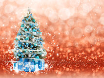 Christmas tree from the xmas lights (play with the light). Bokeh background Stock Image