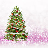 Christmas tree from the xmas lights (play with the light). stock photos