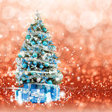 Christmas tree from the xmas lights (play with the light). Royalty Free Stock Images
