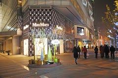 Christmas tree in Yanlord Landmark Royalty Free Stock Images