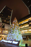 Christmas tree in Yanlord Landmark Stock Images