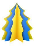 Christmas tree - yellow-blue Stock Photos