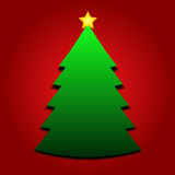 Christmas tree with yellow star Stock Photography