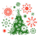 Christmas tree for your design Stock Image