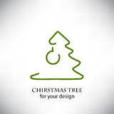 Christmas tree for your design Royalty Free Stock Image