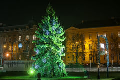 Christmas tree in Zagreb Stock Photo