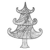 Christmas tree, zendoodle design element Royalty Free Stock Photography