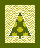 Christmas tree on a zigzag background Stock Photo