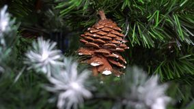 Christmas tree zoom out, close up. Hd video stock video footage