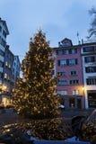 Christmas tree in Zurich. Zurich, Switzerland Stock Photo