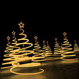 Christmas tree3. Stylized Christmas tree on a black background Royalty Free Stock Photography