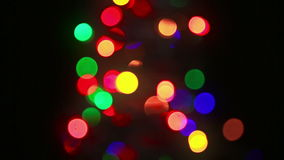 Christmas treee with blinking lights stock video footage