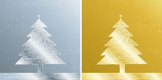 Christmas treee, vector Royalty Free Stock Photography