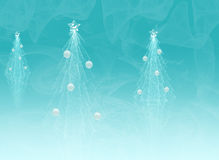 Christmas trees. An illustration of Christmas trees drawn by graphic effects Royalty Free Stock Photo