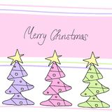 Christmas trees Royalty Free Stock Photos