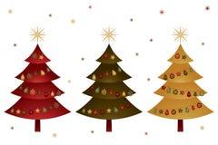 Christmas trees Stock Image