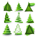 Christmas trees. Сollection of Christmas trees isolated on white Royalty Free Stock Images