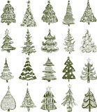 Christmas trees Stock Photos