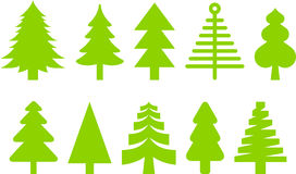 Christmas trees. This is a collections of Christmas trees icons Royalty Free Stock Photography
