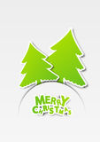 Christmas trees. Paper background with Christmas trees Stock Images