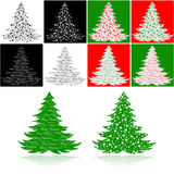 Christmas trees Royalty Free Stock Images