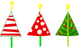 Christmas Trees. Bright whimsical Christmas trees available in jpeg or vector stock illustration