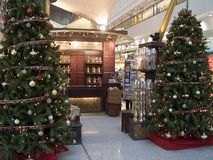 Christmas trees. At the airport Royalty Free Stock Photos