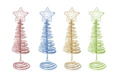 Christmas Trees. On Isolated White Background Royalty Free Stock Photography