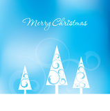 Christmas Trees. An abstract Christmas background with trees Stock Photos