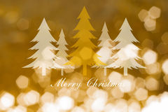 Christmas trees  on abstract light background ,Christmas cards Royalty Free Stock Photography
