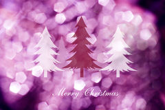 Christmas trees  on abstract light background ,Christmas cards Stock Image