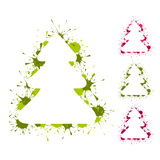 Christmas trees backgrouds stock illustration