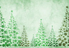 Christmas trees background. With textures Stock Photos