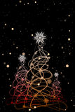 Christmas trees on a background with snowflakes. Stock Photography