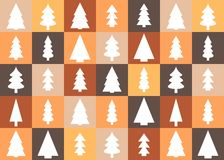 Christmas trees background Royalty Free Stock Images