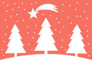 Christmas trees background Stock Images